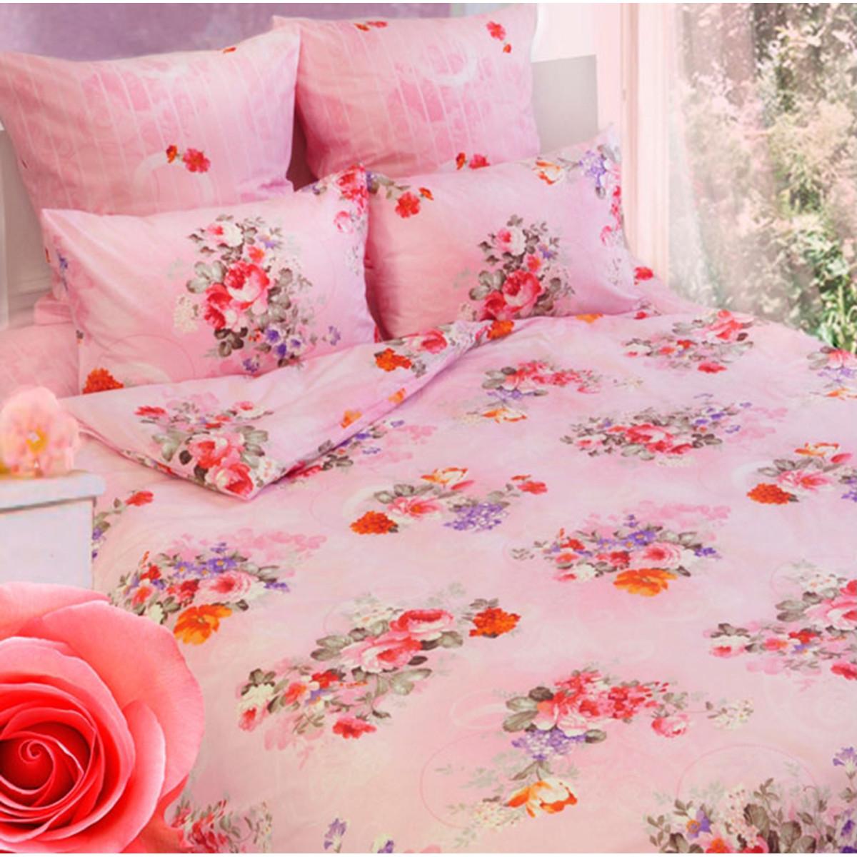 Комплект Постельного Белья Розы Полутораспальный Бязь