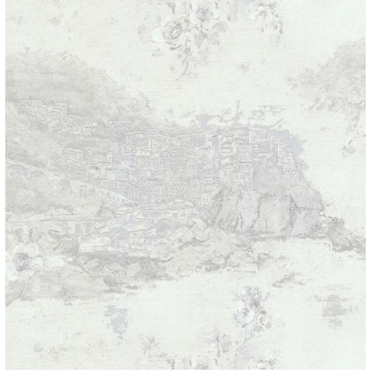 Обои флизелиновые Esedra белые 1.06 м 46421