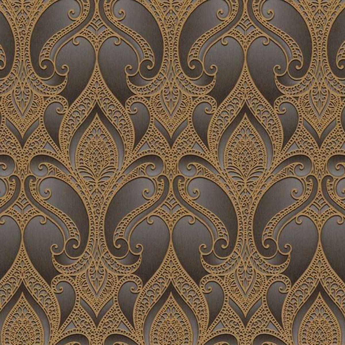Обои флизелиновые Prestigecolor коричневые 1.06 м 0742-48