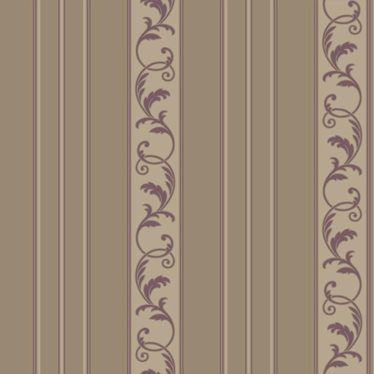 Обои акриловые York Sapphire Oasis коричневые 0.53 м JR5722