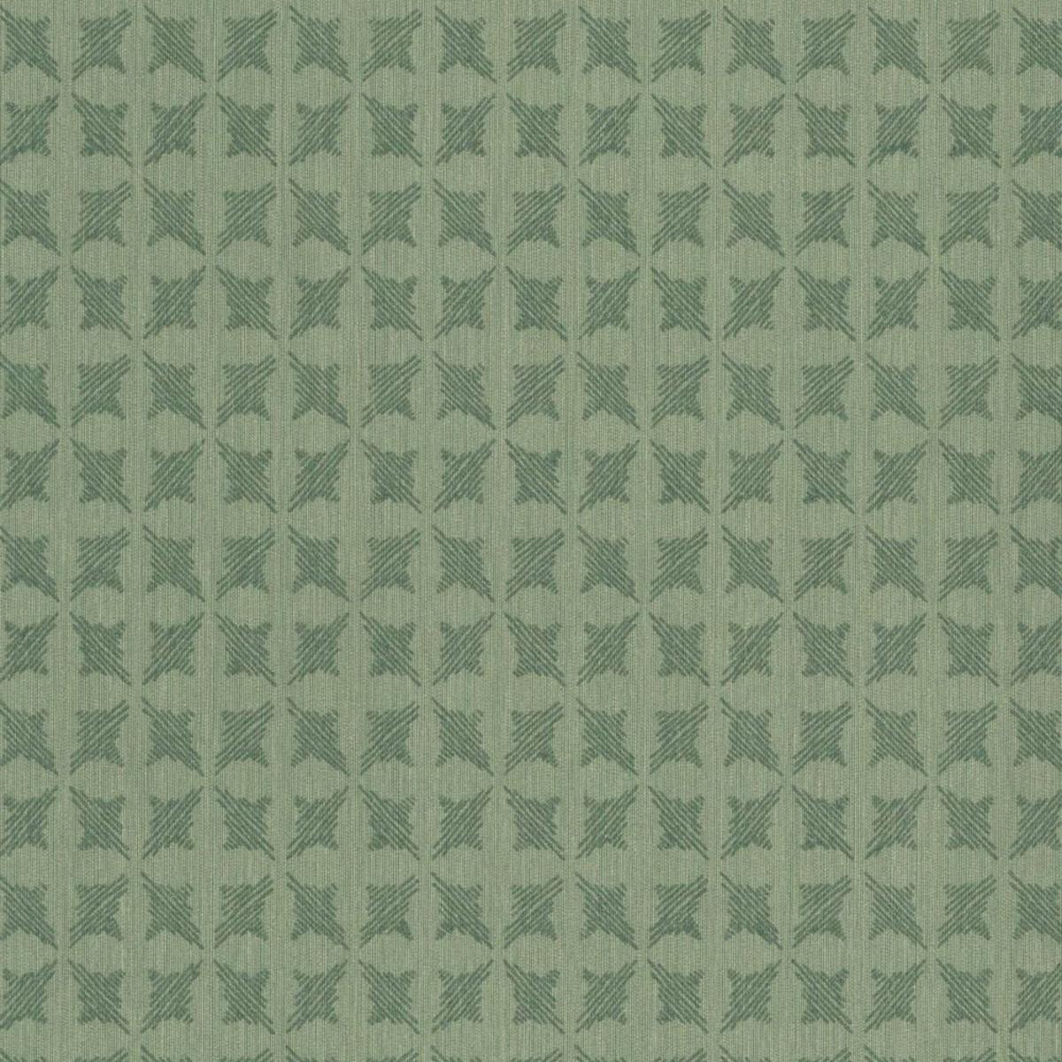 Обои текстильные Rasch Selected зеленые 0.53 м 79363
