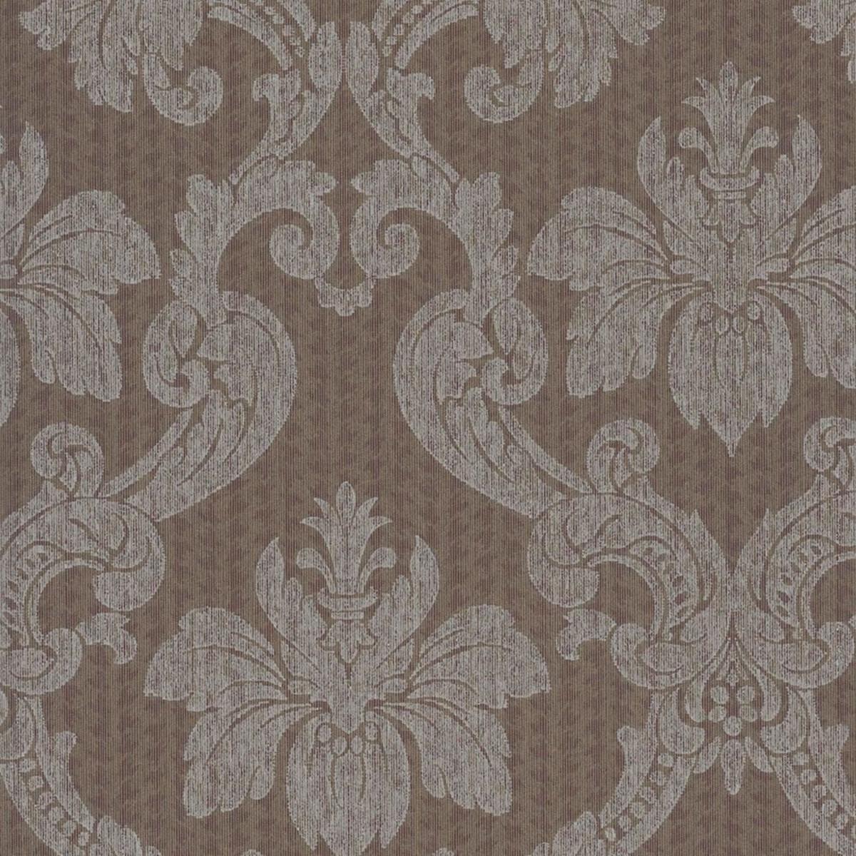 Обои текстильные Rasch Selected коричневые 0.53 м 79493