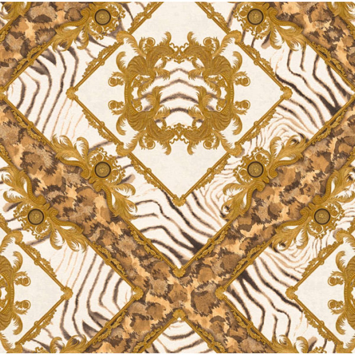 Обои флизелиновые A.S. Creation Versace III бежевые 0.53 м 34904-3