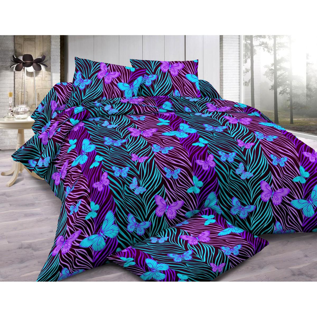 Комплект постельного белья Glamour полутораспальный сатин