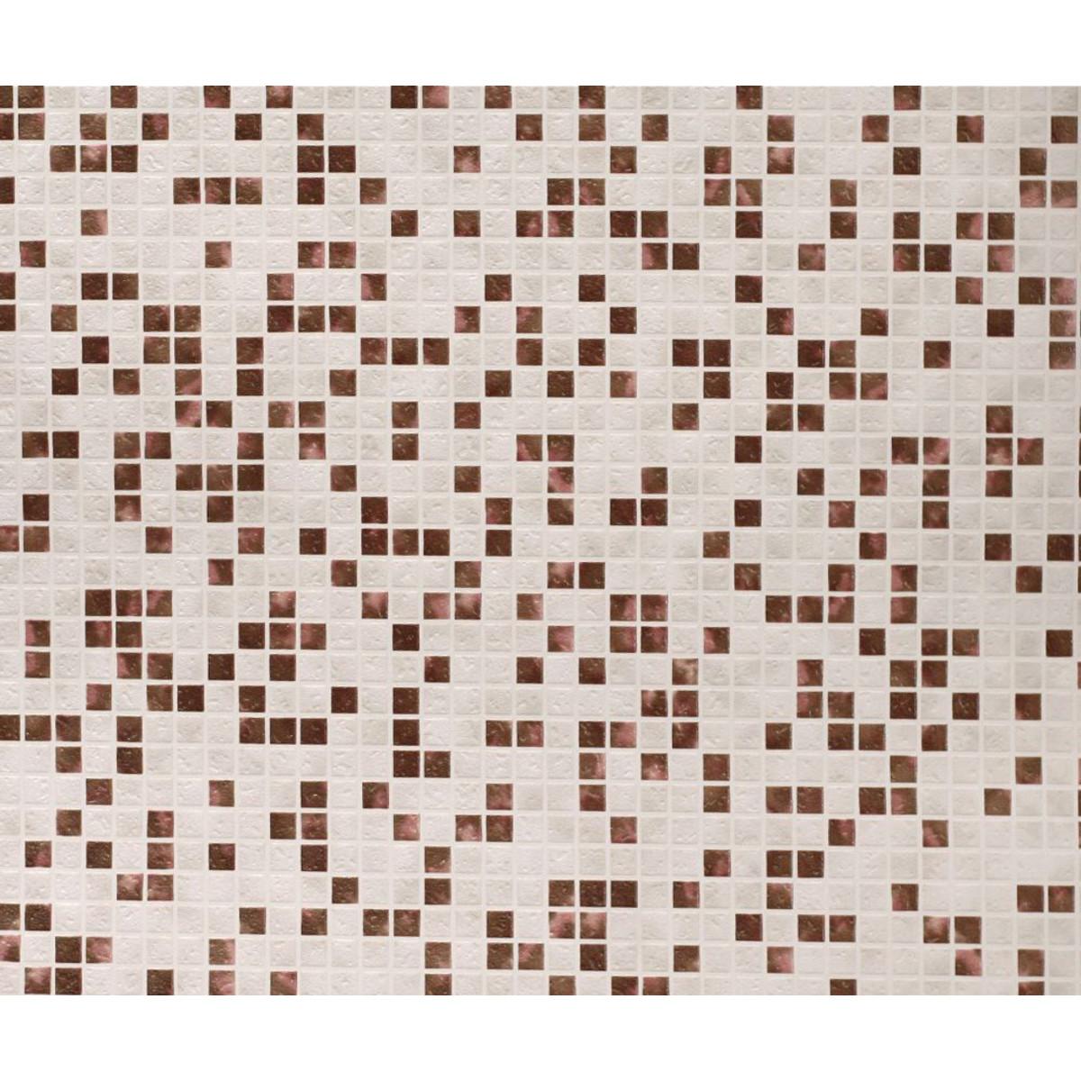 Обои виниловые Sonet Майолика коричневые 0.53 м 99503