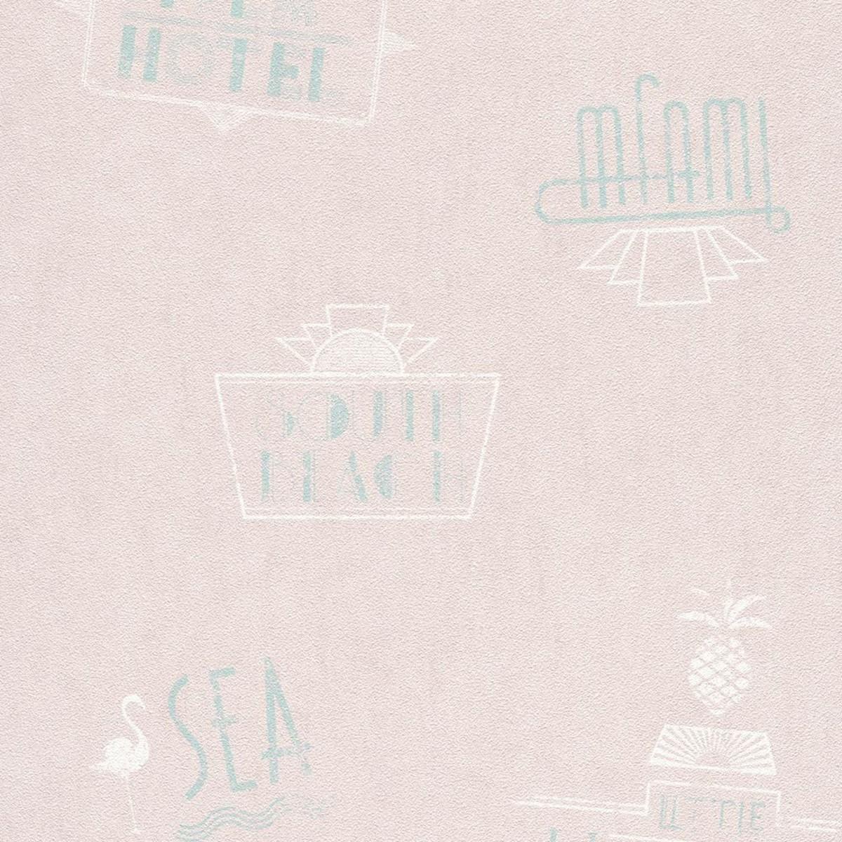Обои флизелиновые Rasch b.b home passion V розовые 0.53 м 476200