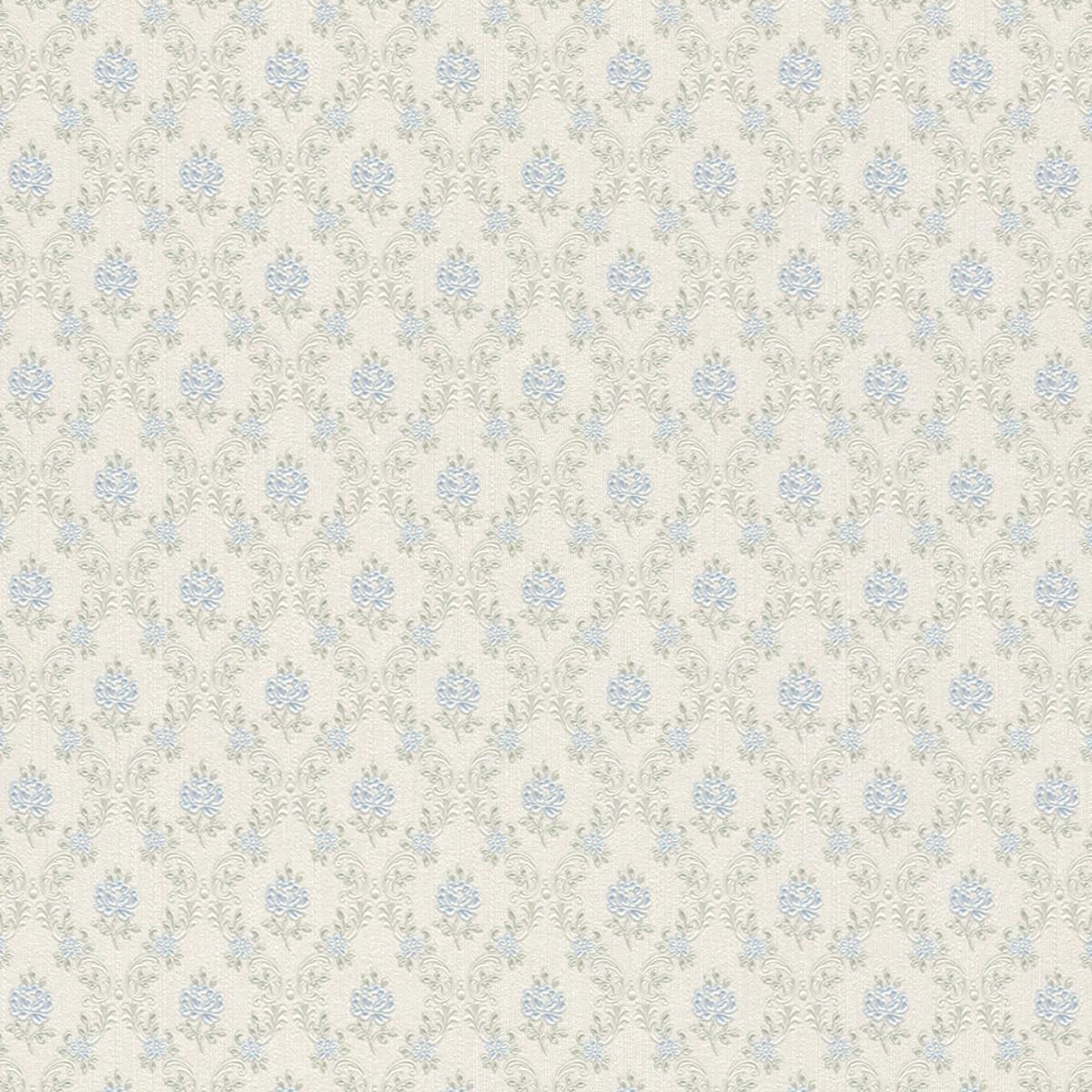 Обои виниловые Rasch Provence голубые 1.06 м 919080