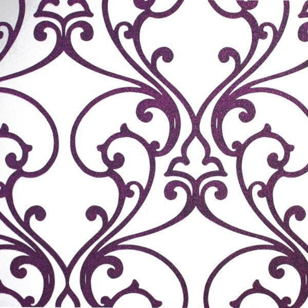 Обои флизелиновые Rasch Glamour фиолетовые 1.06 м 680645