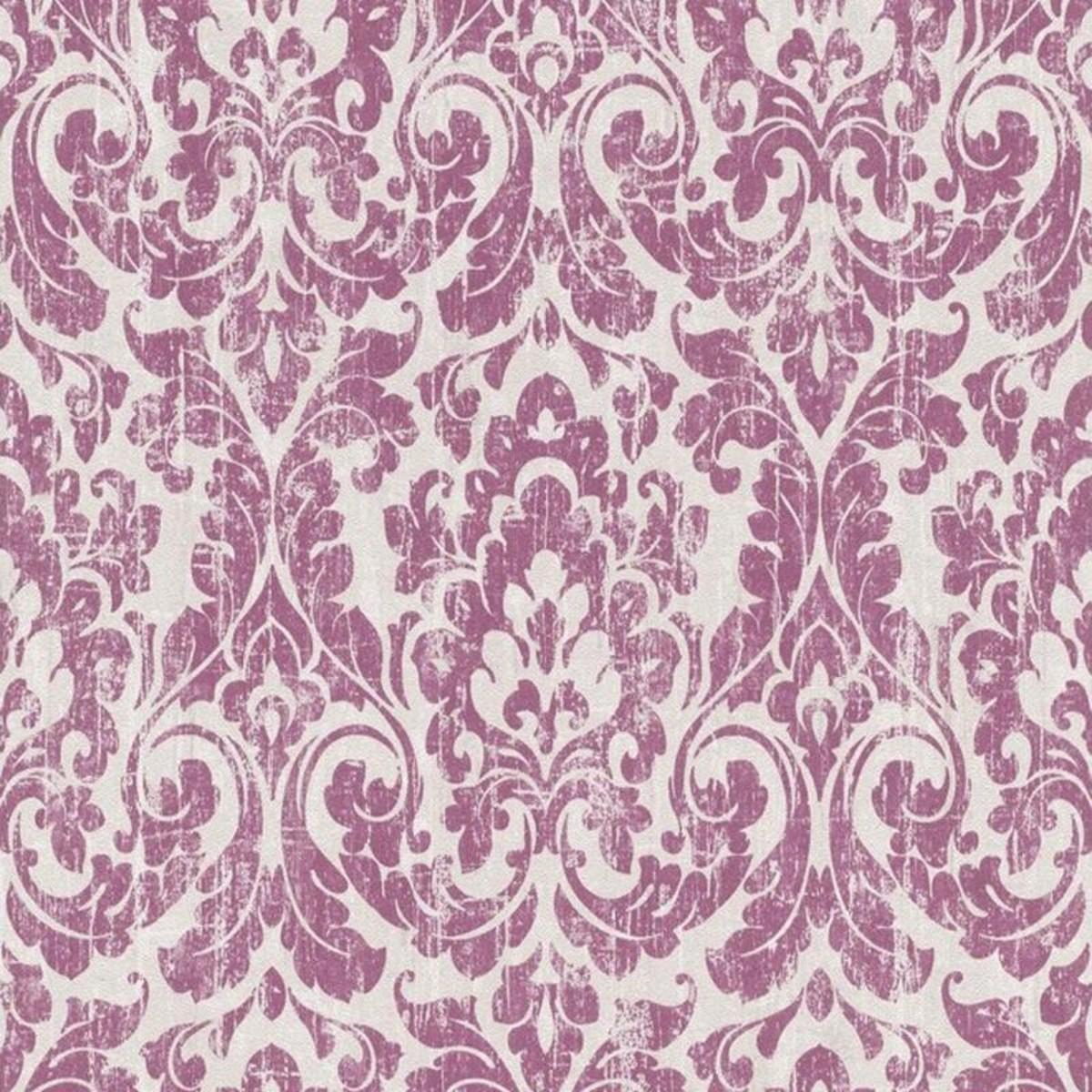 Обои флизелиновые Rasch Souvenir розовые 0.53 м 516234