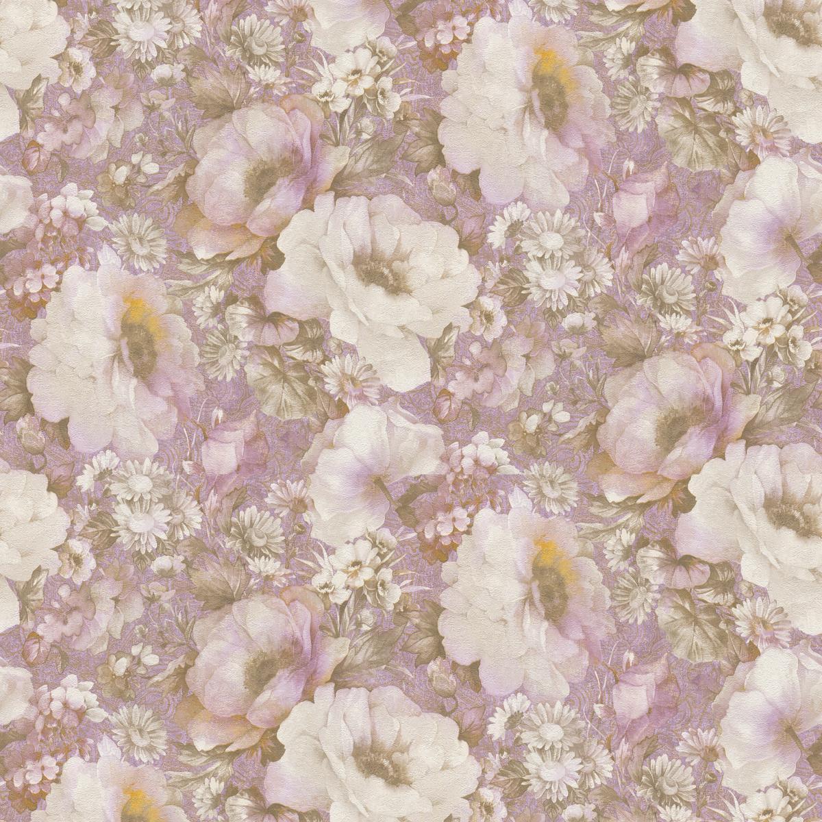Обои флизелиновые Rasch Fiore розовые 1.06 м 935707