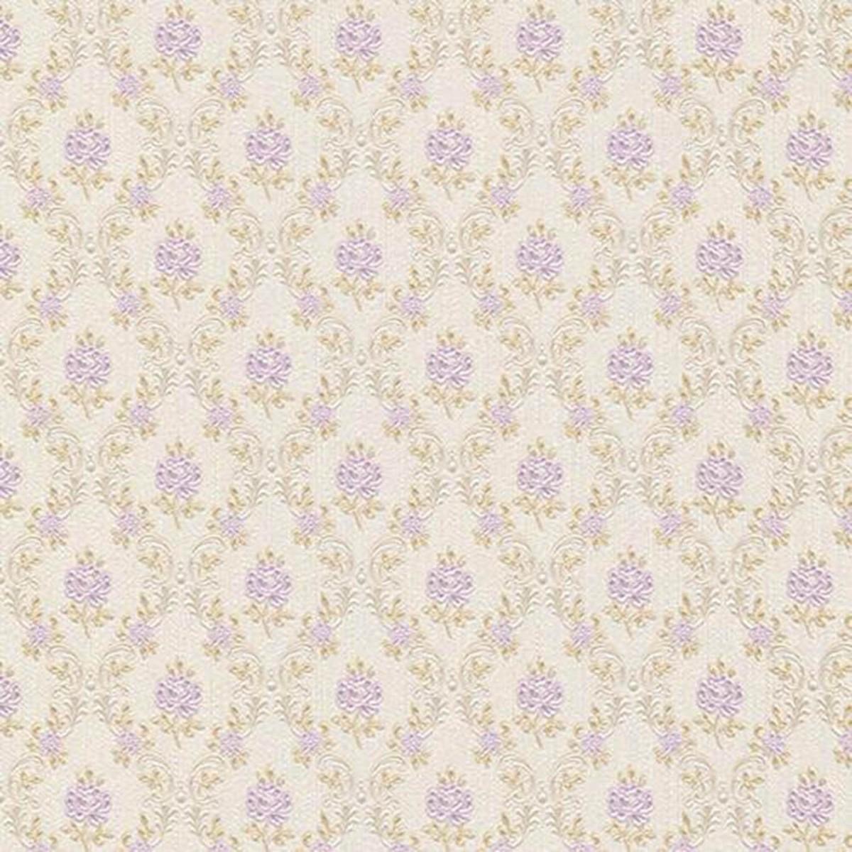 Обои виниловые Rasch Provence фиолетовые 1.06 м 919073