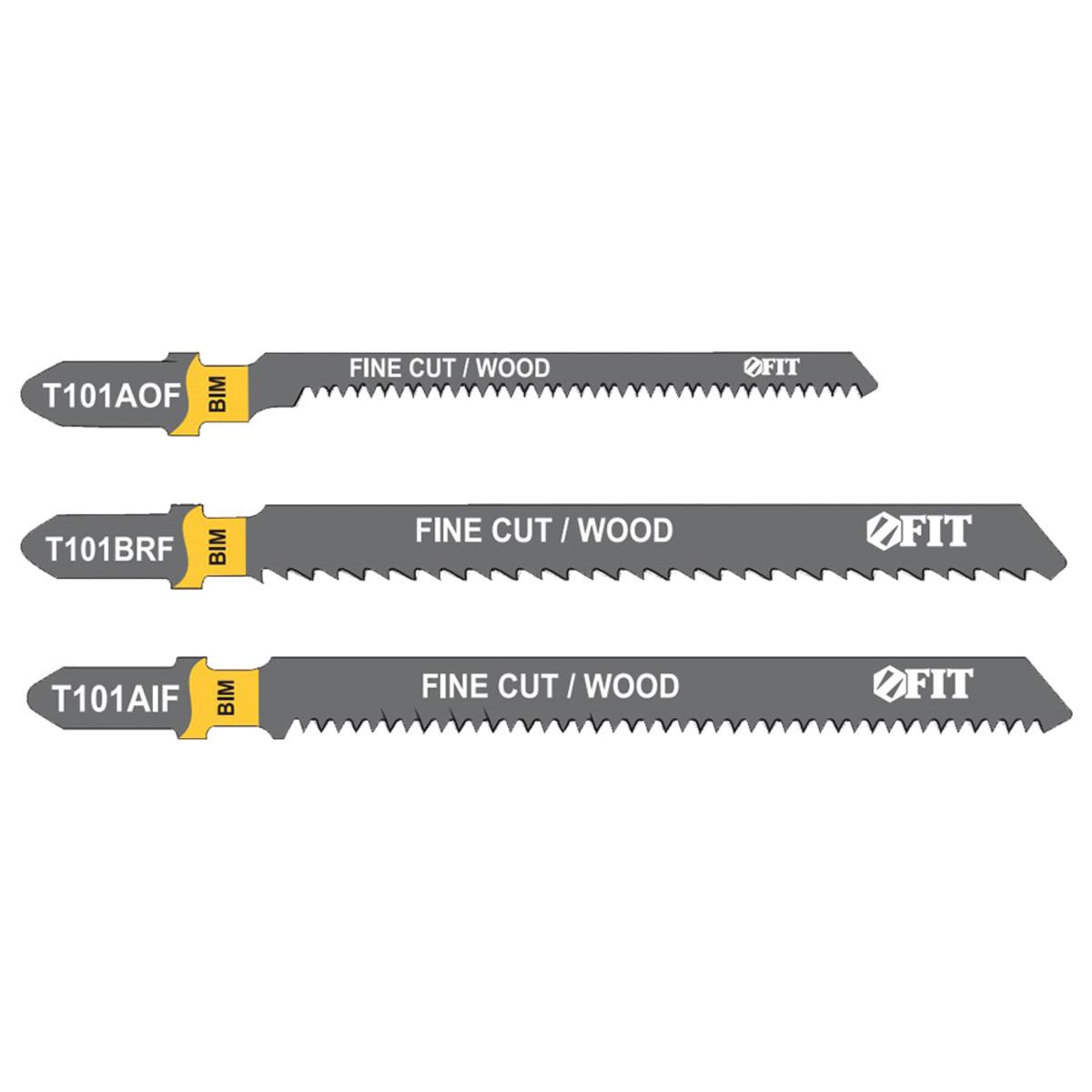 Набор полотен для электролобзика FIT 101BRFx2 T101AOFx2 T101AIFx2 6 шт. 41012