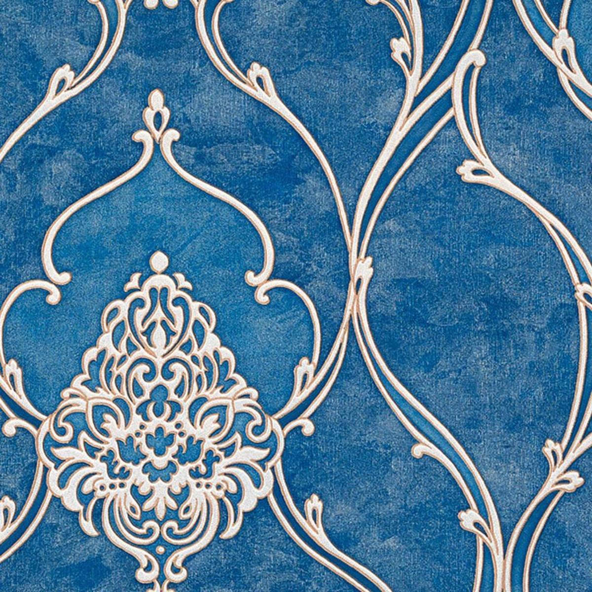Обои флизелиновые Zambaiti Italica синие 1.06 м M5123