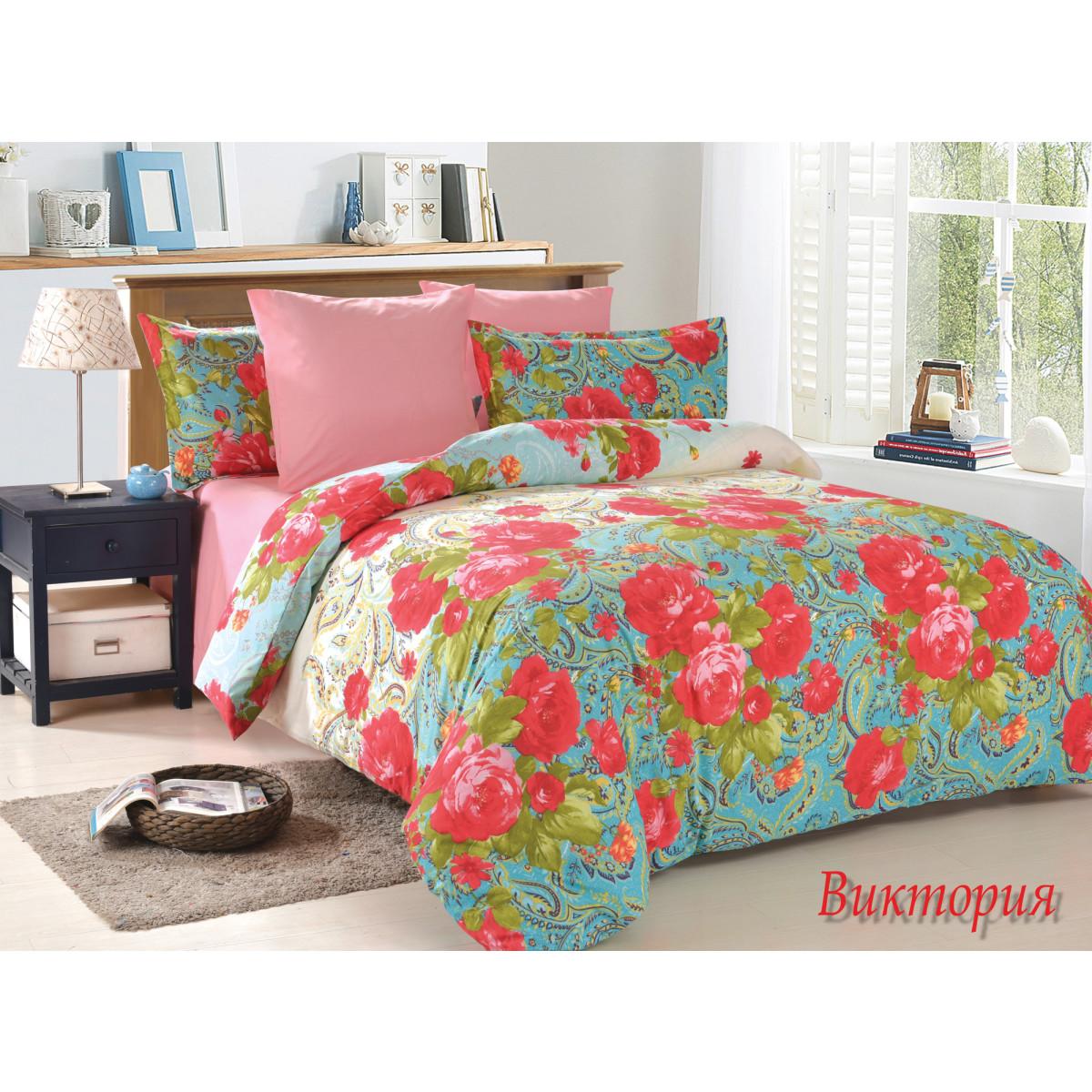 Комплект постельного белья Victoria полутораспальный поплин