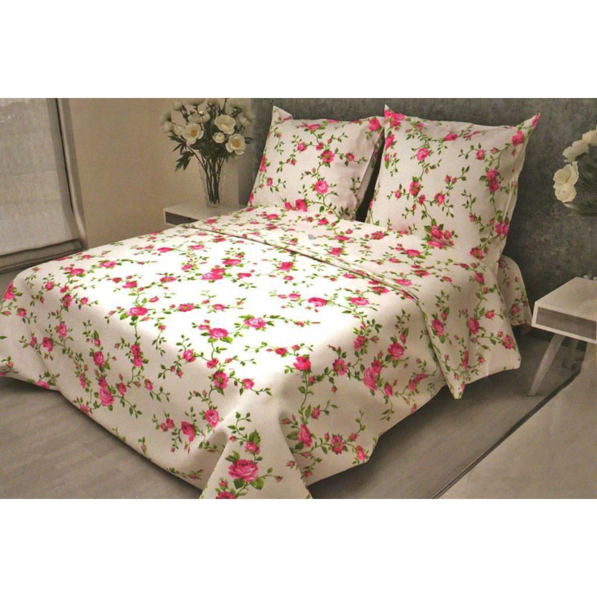 Комлплект постельного белья полутораспальный «Розы» бязь 50x70 см