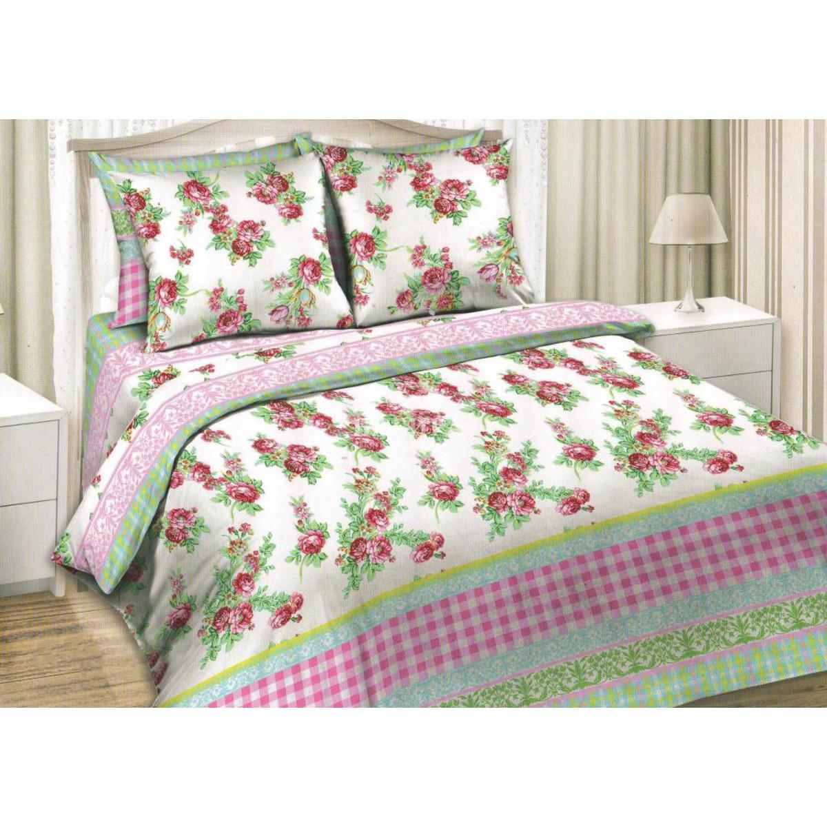 Комлплект постельного белья евро «Весенний сад» бязь