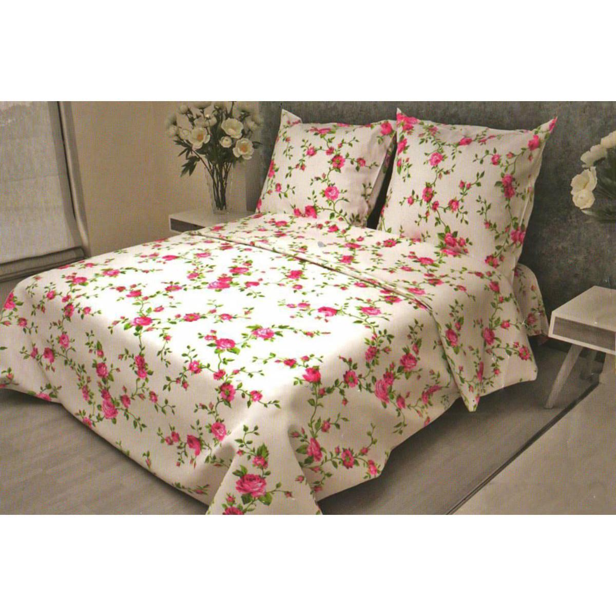 Комлплект постельного белья полутораспальный «Розы» бязь 70x70 см