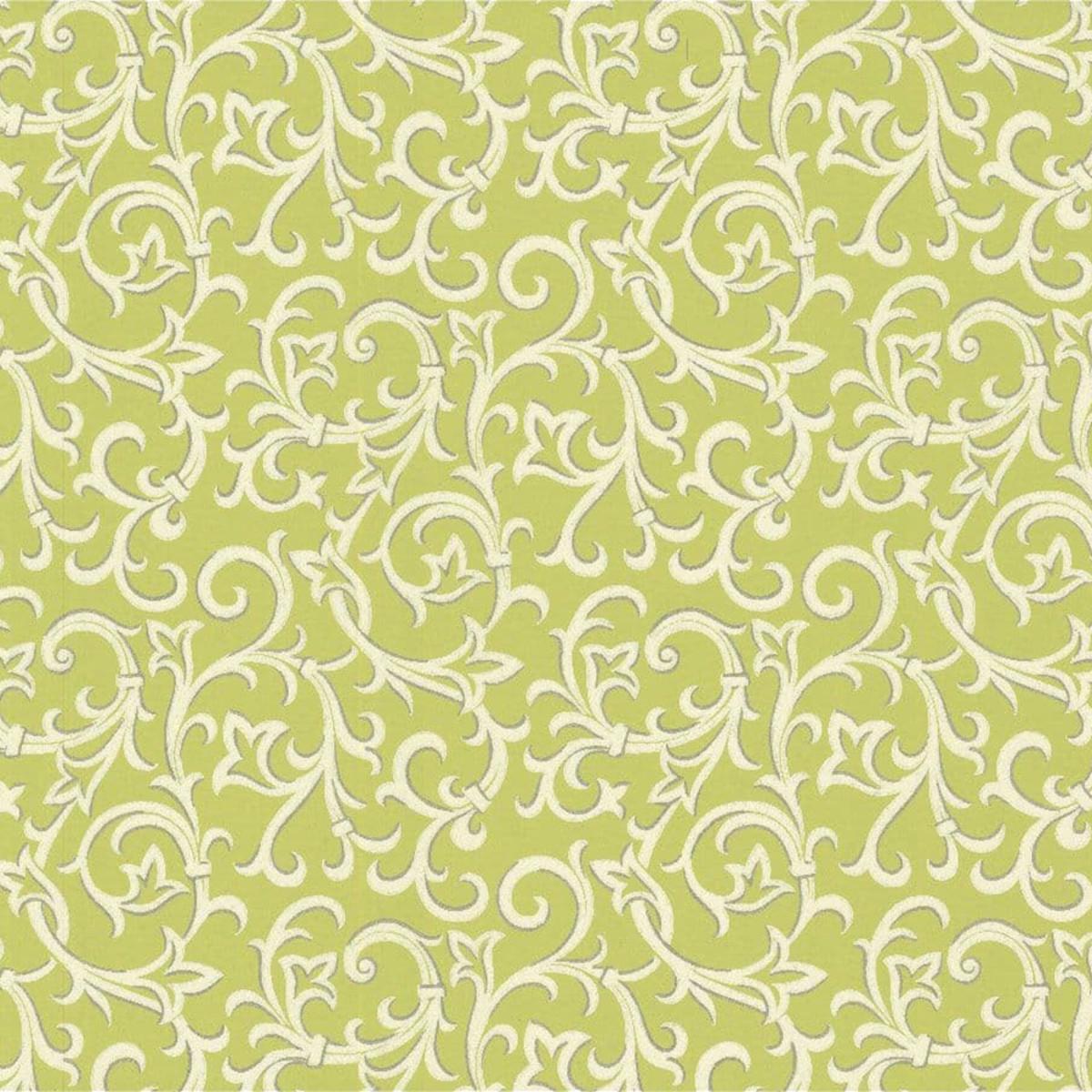 Обои флизелиновые 1838 Wallcoverings Avington зеленые 0.53 м 1602-103-05