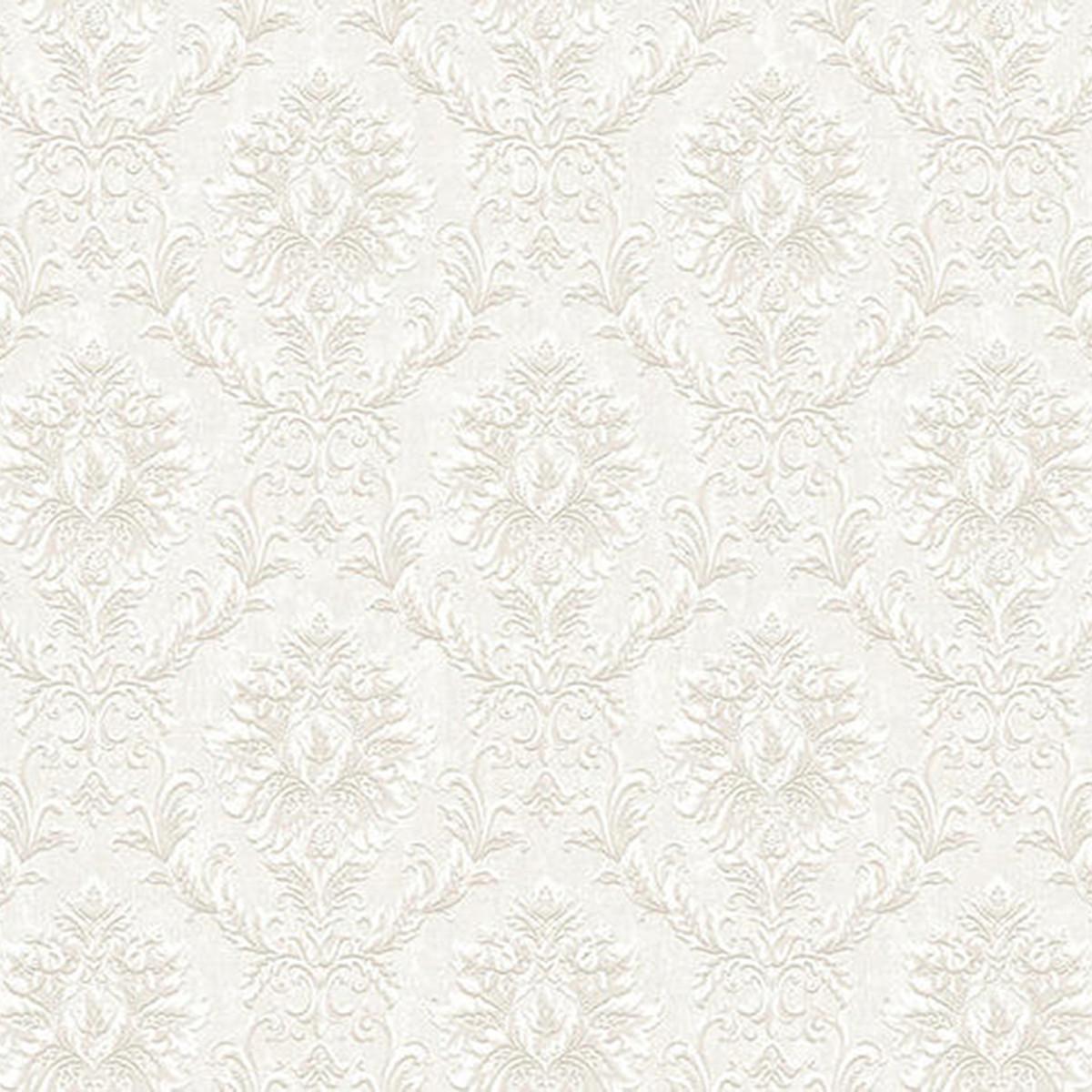 Обои флизелиновые Grandeco Villa Borghese белые 1.06 м VB3305