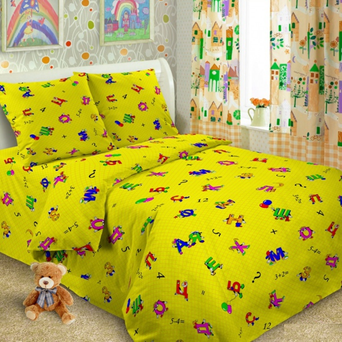 Комплект постельного белья Letto Традиция в кроватку бязь