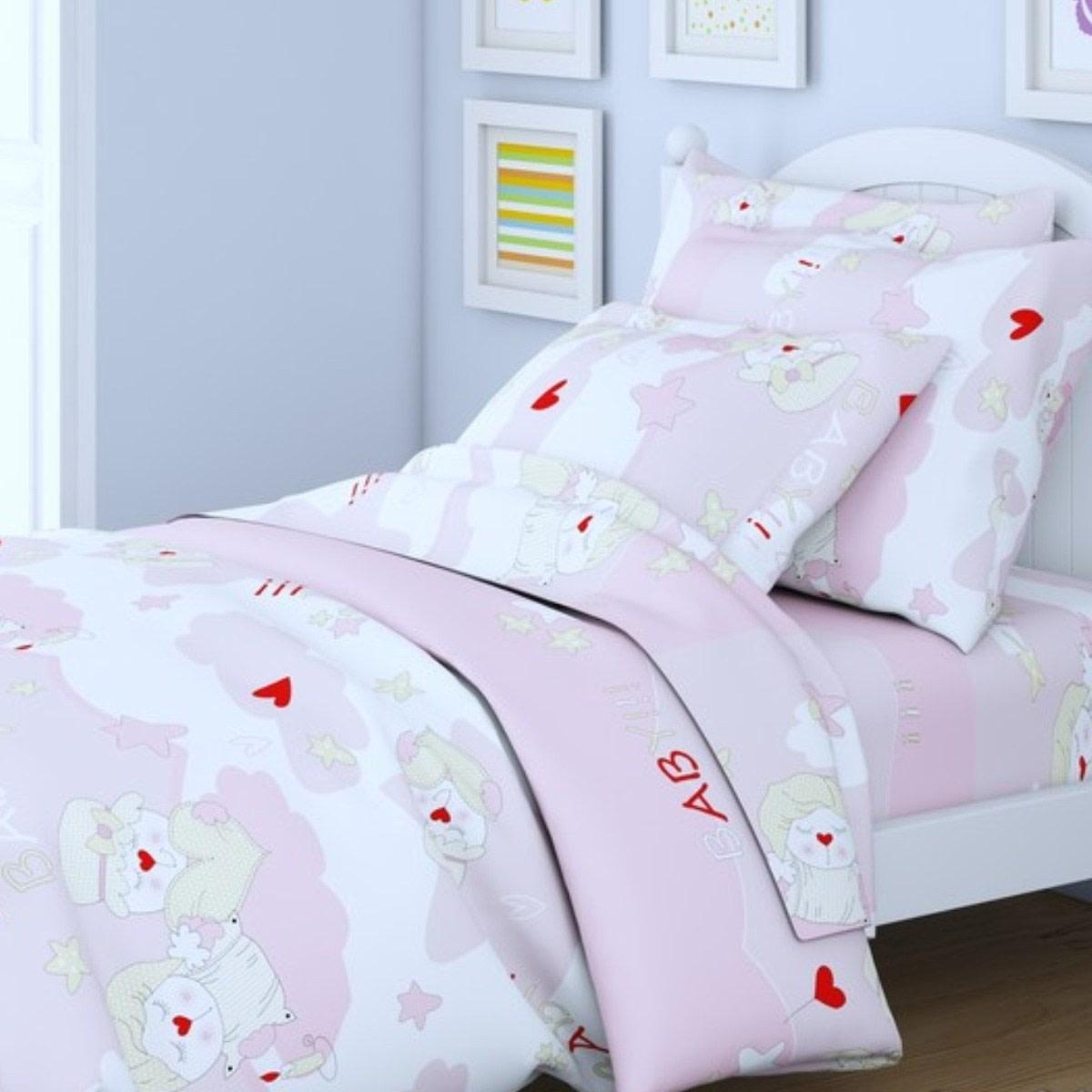 Комплект постельного белья Letto Традиция в кроватку перкаль