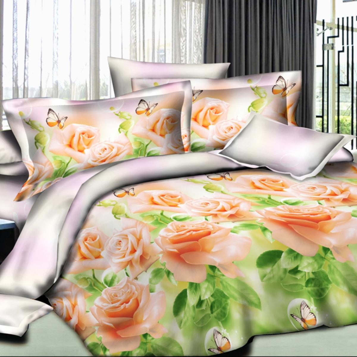 Комплект постельного белья Letto евро сатин 70x70 см