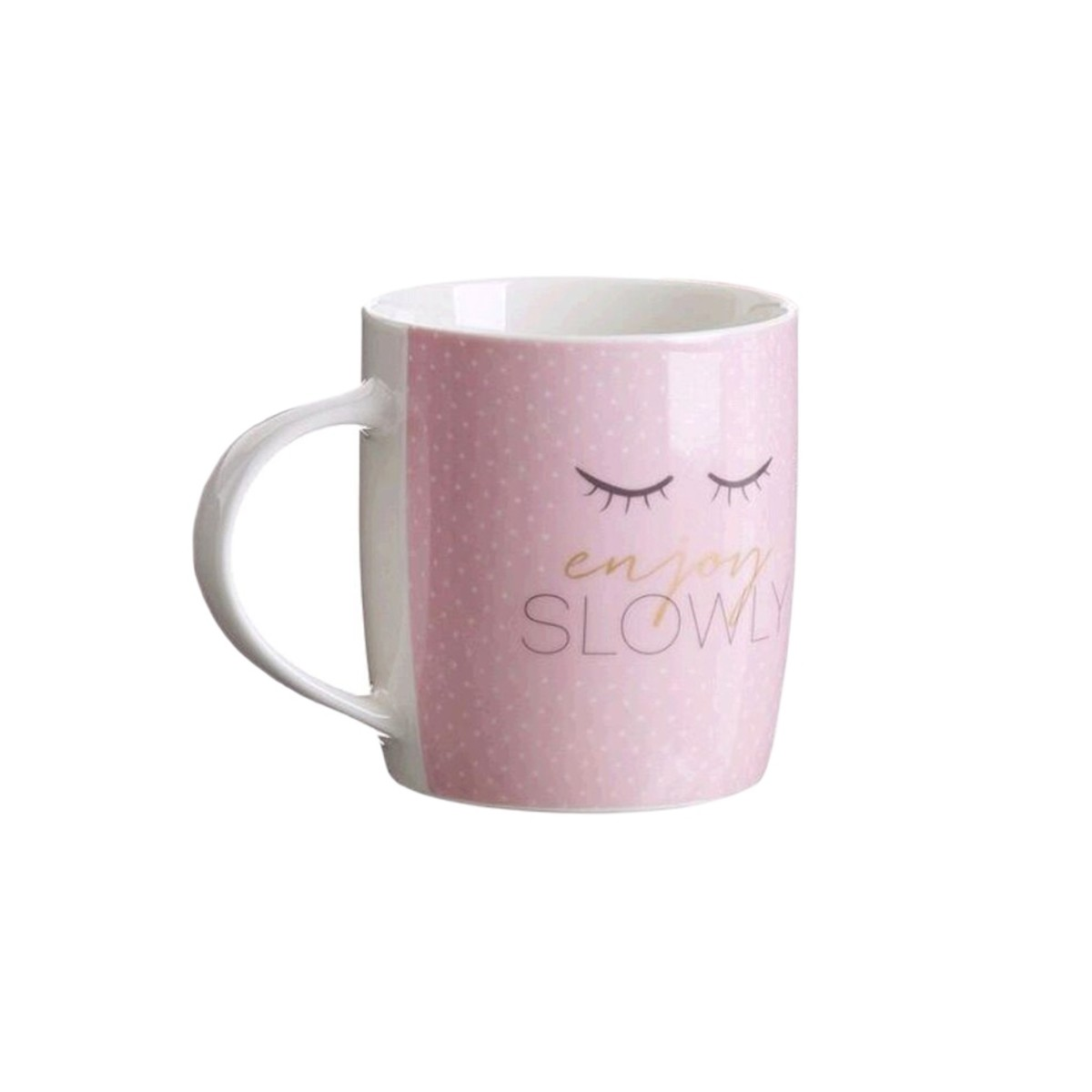 Кружка D&#39casa Chic Enjoy 2776158R 350 мл розовая