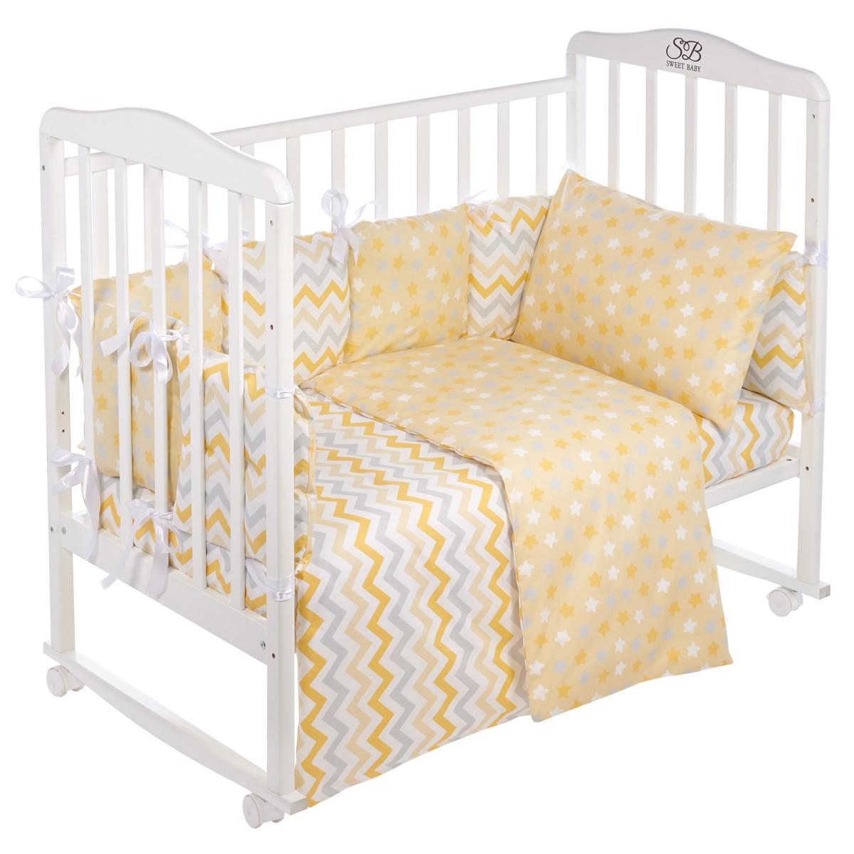 Комплект Постельного Белья Sweet Baby Anastasia В Кроватку Поплин 4 Предмета