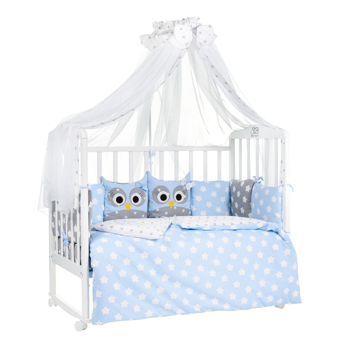 Комплект Постельного Белья Sweet Baby Uccellino В Кроватку Бязь 7 Предметов