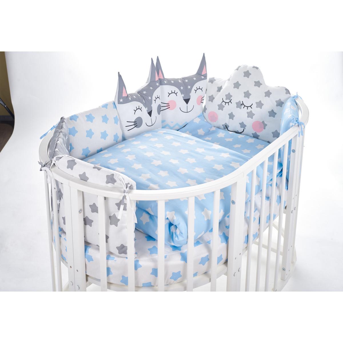 Комплект Постельного Белья Sweet Baby Gioia В Кроватку Поплин 5 Предметов