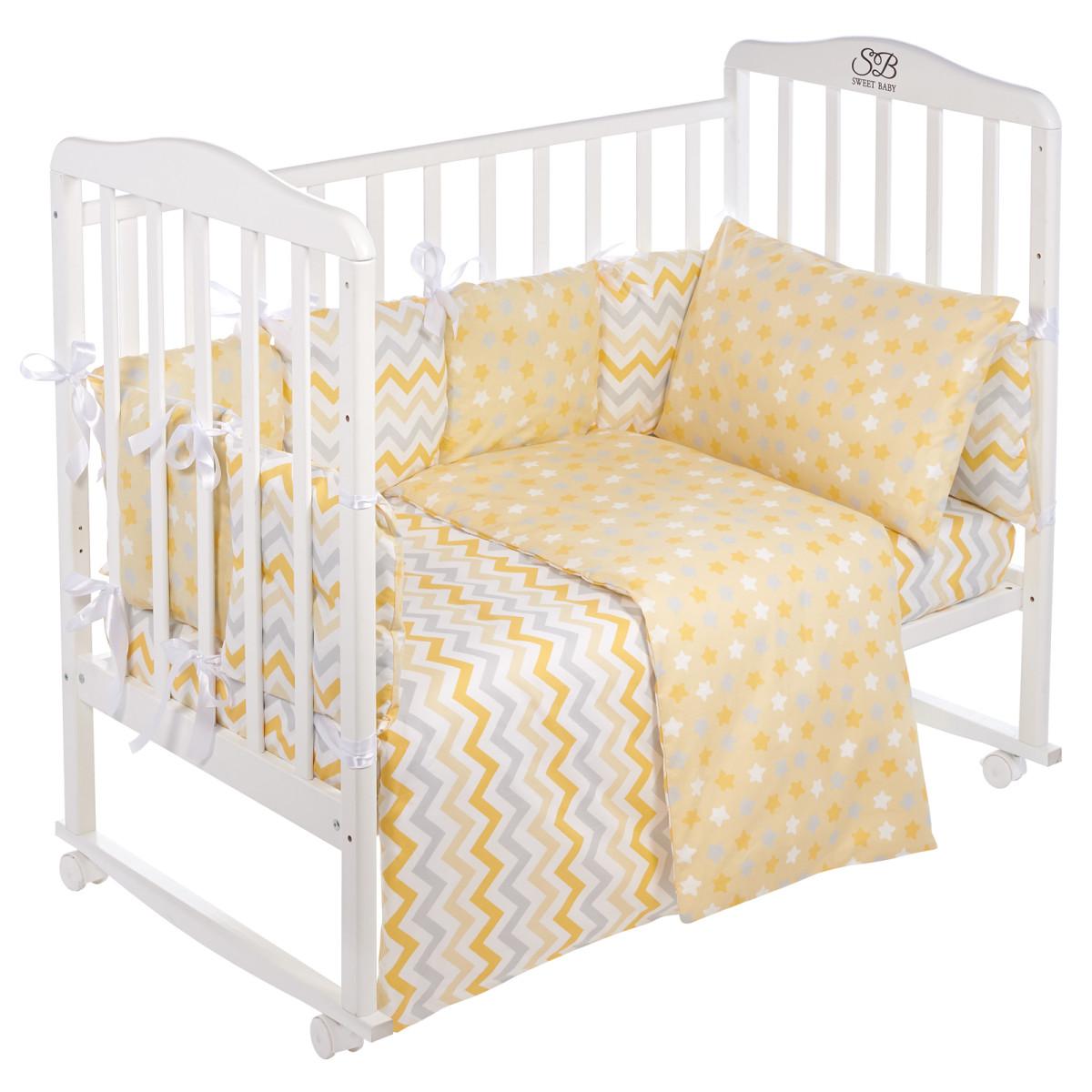 Комплект Постельного Белья Sweet Baby Colori В Кроватку Поплин 4 Предмета