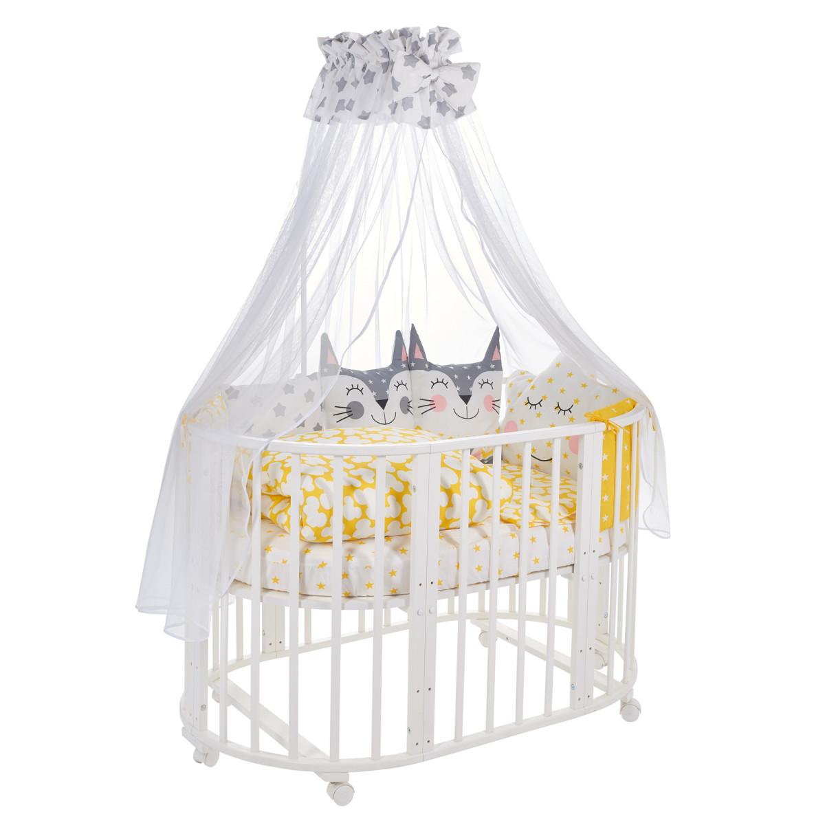 Комплект Постельного Белья Sweet Baby Gioia В Кроватку Бязь 8 Предметов