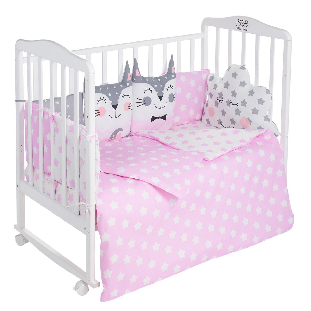 Комплект Постельного Белья Sweet Baby Gioia В Кроватку Поплин 4 Предмета