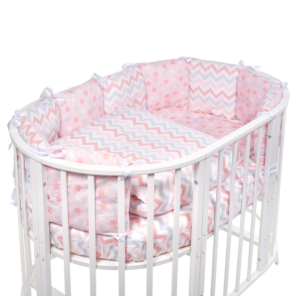 Комплект Постельного Белья Sweet Baby Colori В Кроватку Поплин 5 Предметов