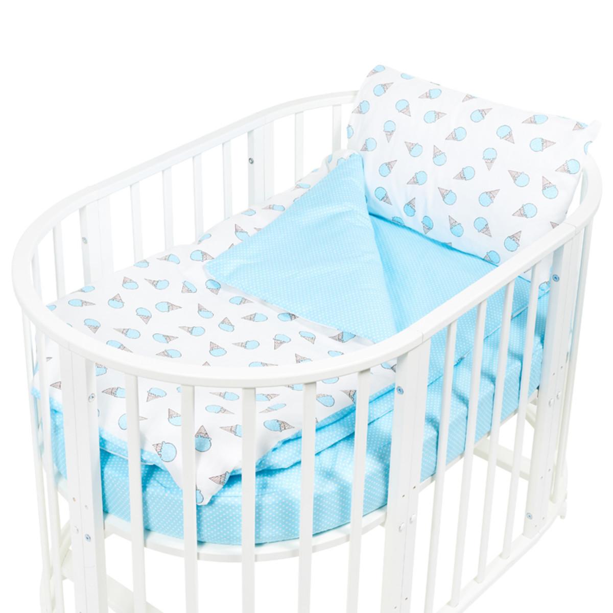 Комплект Постельного Белья Sweet Baby Gelato В Кроватку Поплин 4 Предмета