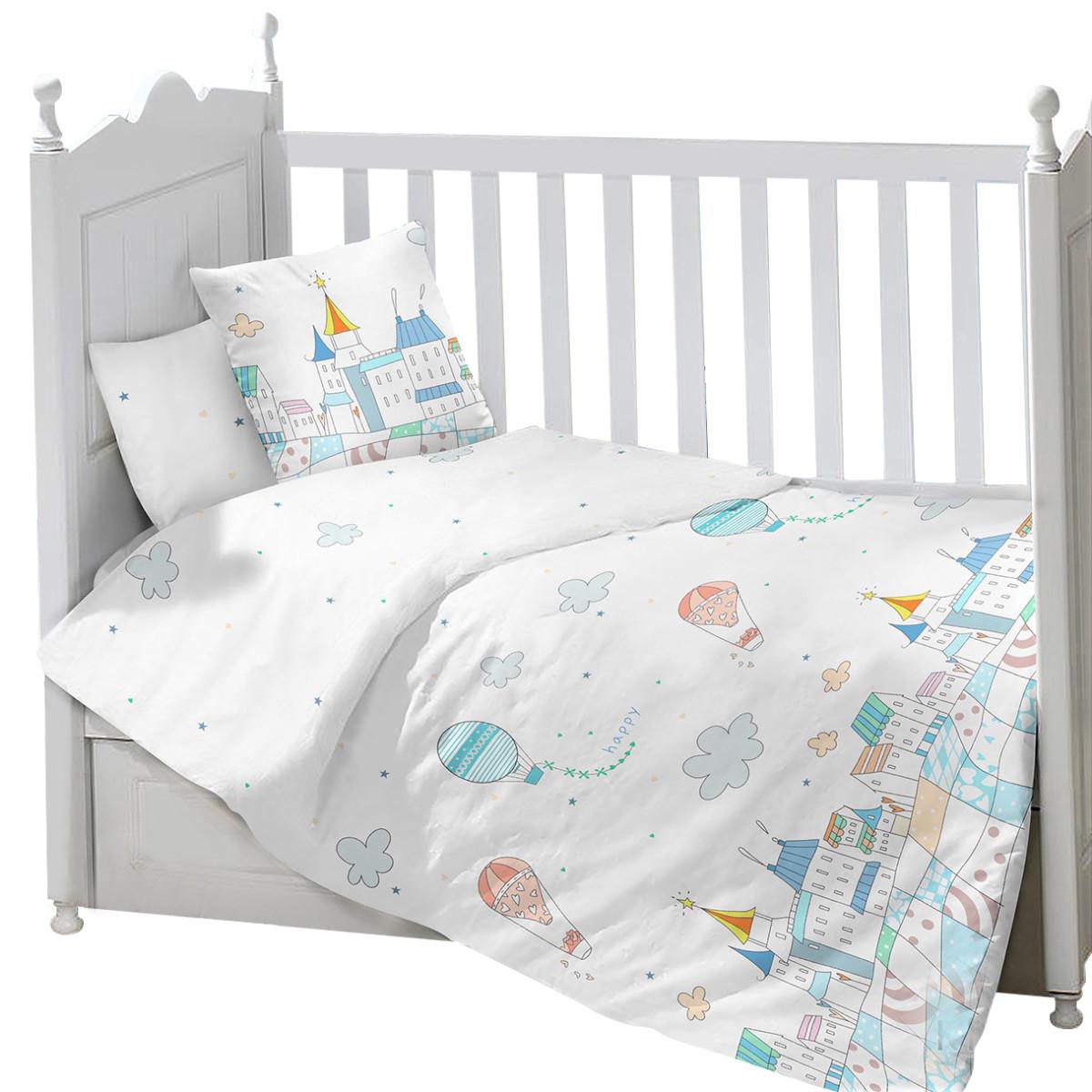 Комплект Постельного Белья Sweet Baby Gioco В Кроватку Сатин 3 Предмета
