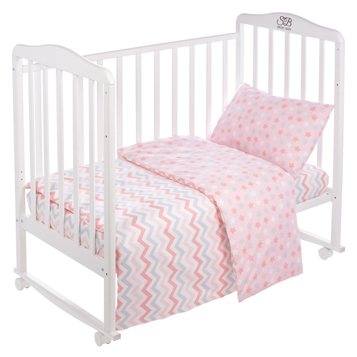 Комплект Постельного Белья Sweet Baby Colori В Кроватку Поплин 3 Предмета