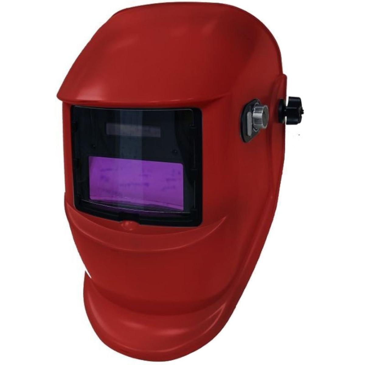 Щиток сварщика WEGA красный с АСФ GX 400X