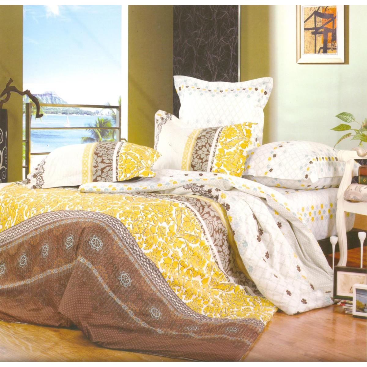 Комплект Постельного Белья Sailid Евро Сатин 50x70 70x70