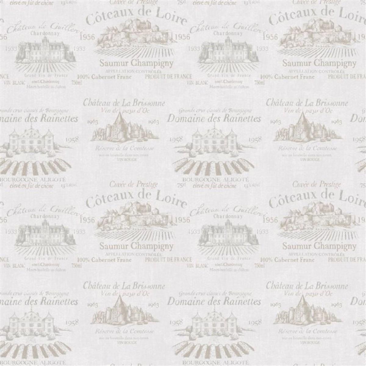 Обои флизелиновые Aura Gourmet Tour серые 0.53 м G12211