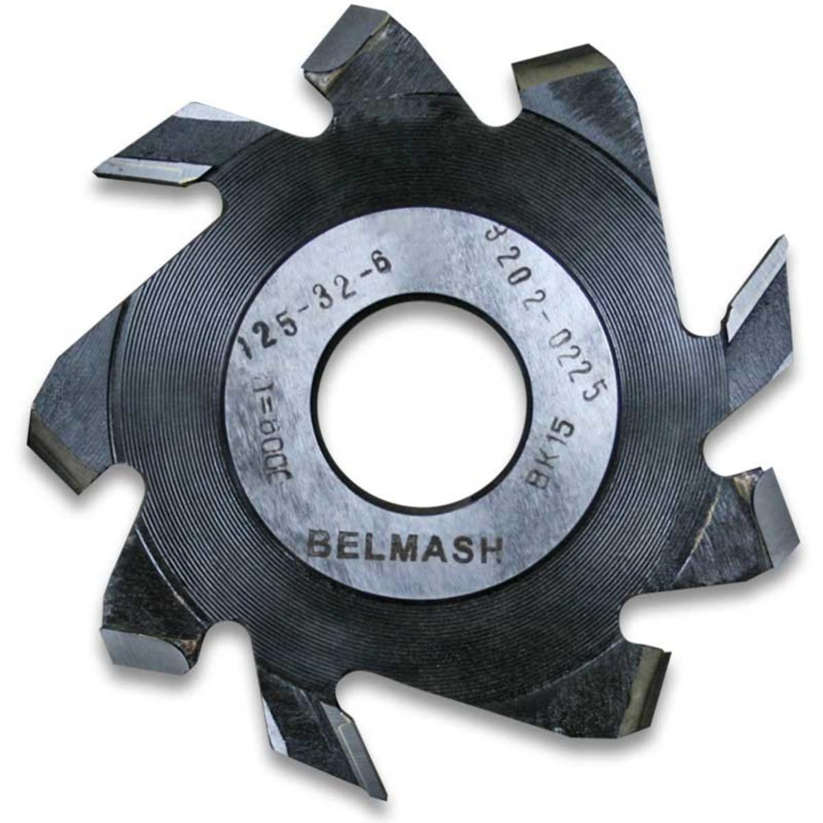 Фреза дисковая пазовая по дереву BELMASH 125×32×6 мм с подрезающими зубьями 9 зубьев
