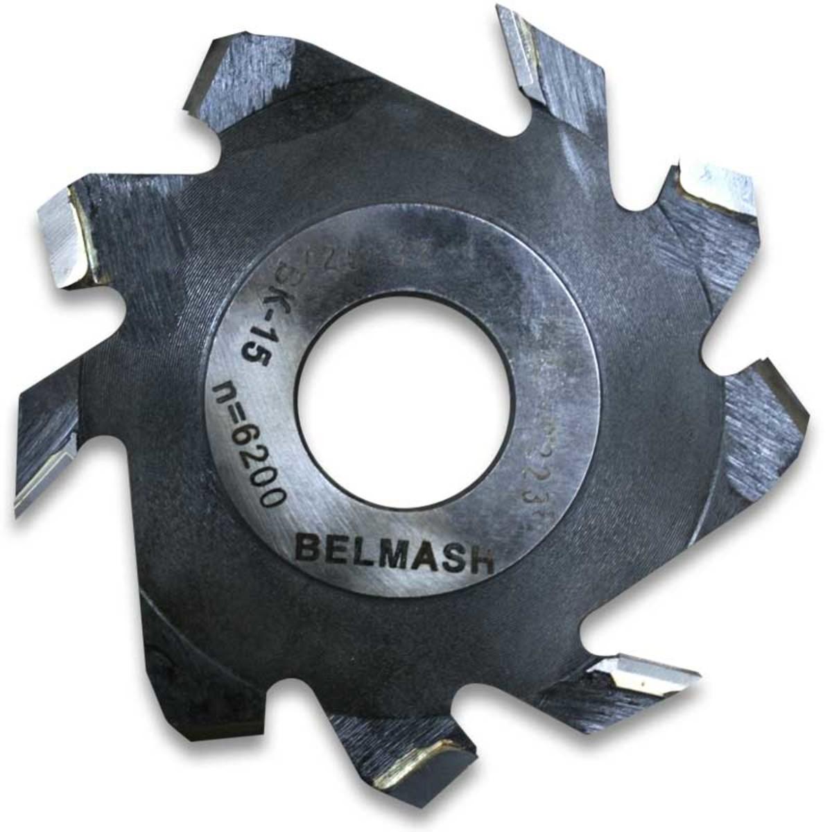 Фреза дисковая пазовая по дереву BELMASH 125x32x4 мм с подрезающими зубьями 9 зубьев