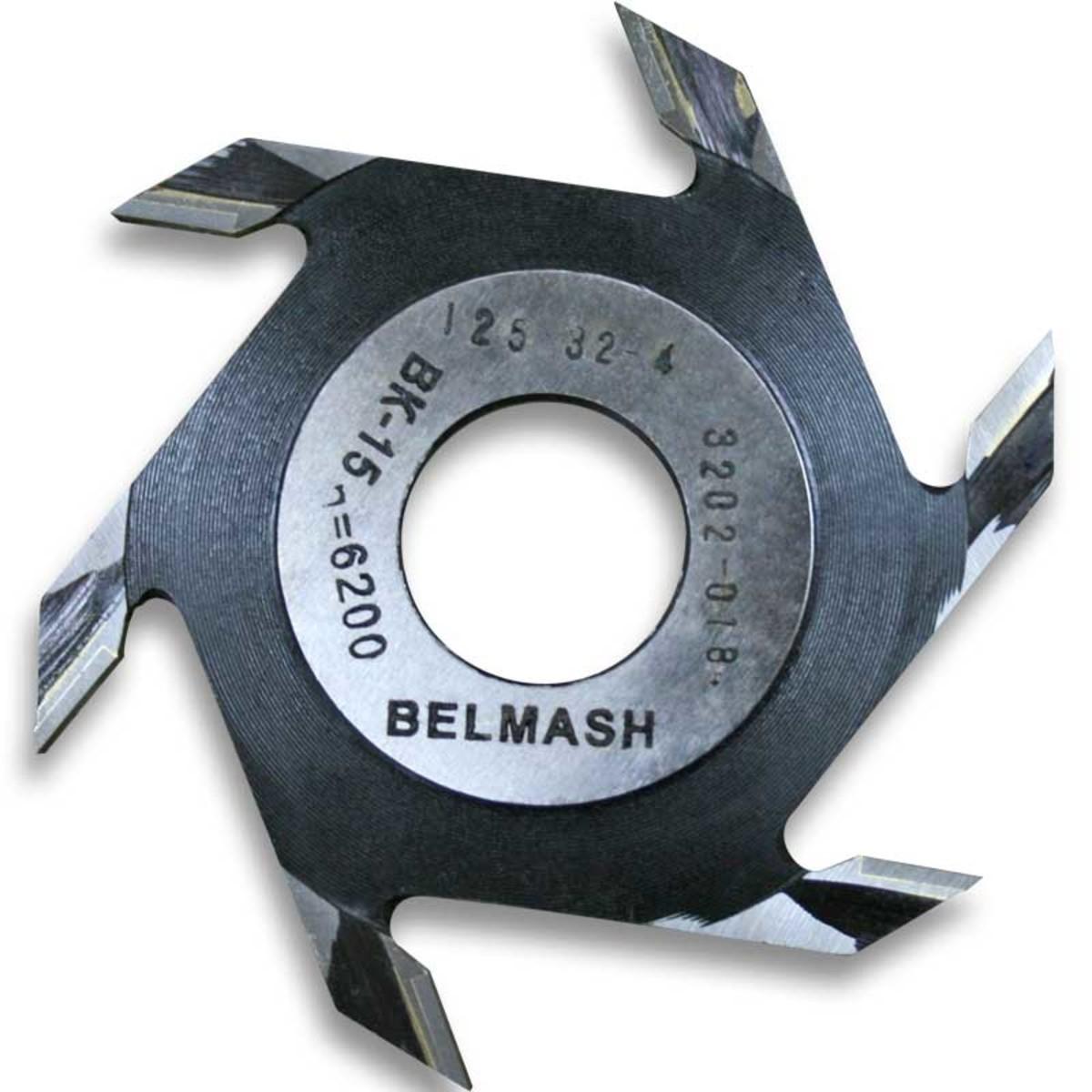 Фреза дисковая пазовая по дереву BELMASH 125x32x4 мм с тведосплавными напайками 6 зубьев