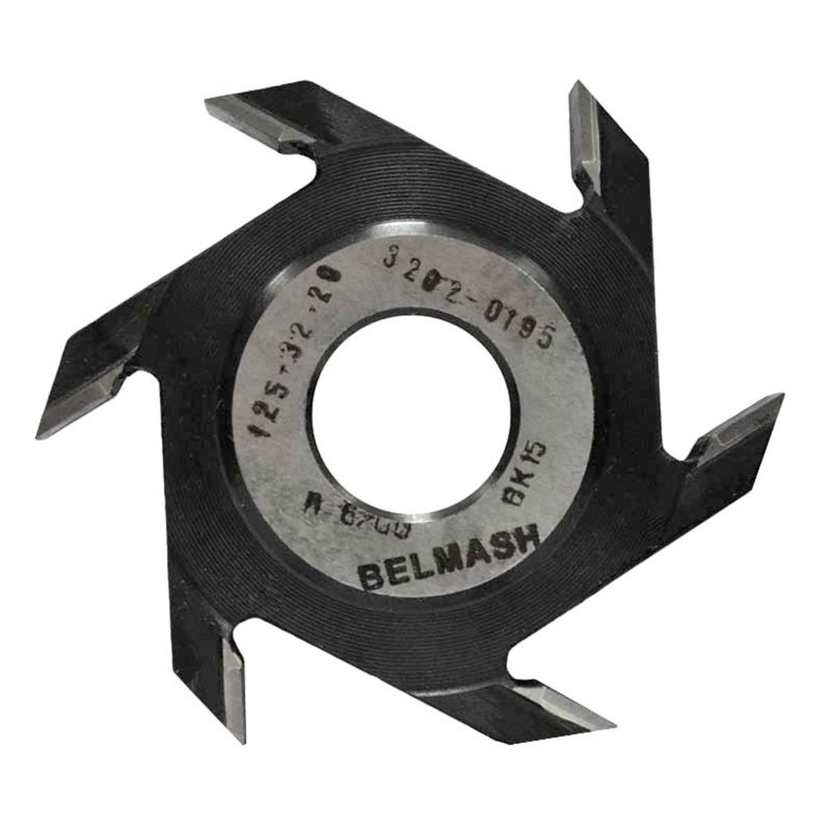 Фреза дисковая пазовая по дереву BELMASH 125x32x20 мм с тведосплавными напайками 6 зубьев