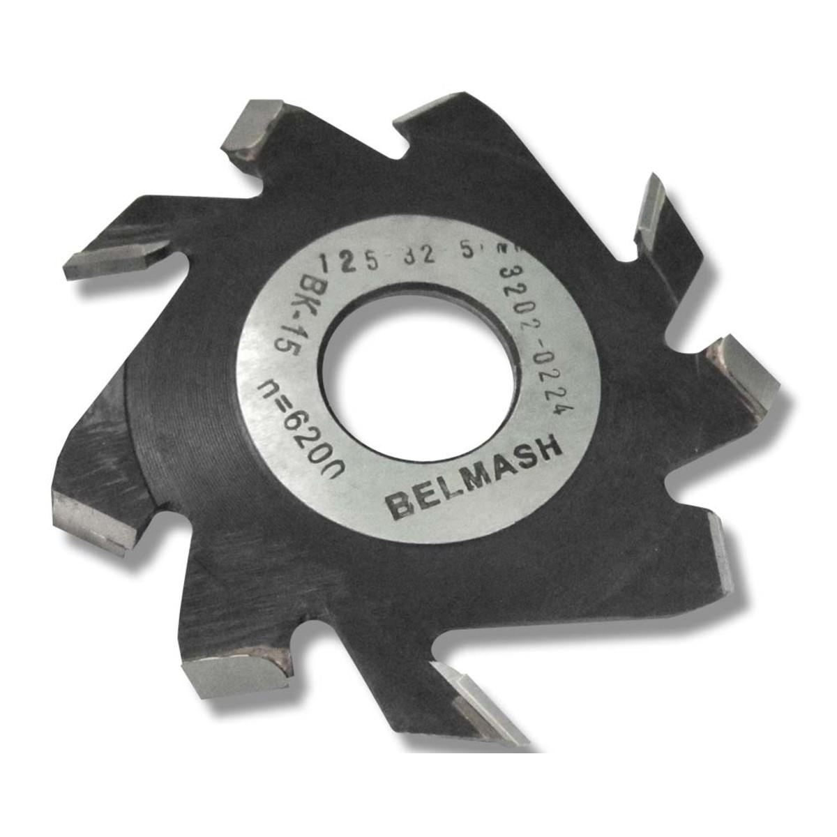 Фреза дисковая пазовая по дереву BELMASH 125x32x5 мм с подрезающими зубьями 9 зубьев