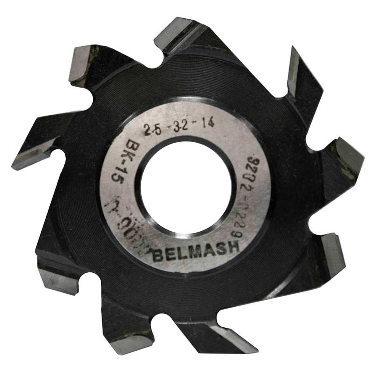 Фреза дисковая пазовая по дереву BELMASH 125x32x14 мм с подрезающими зубьями 9 зубьев