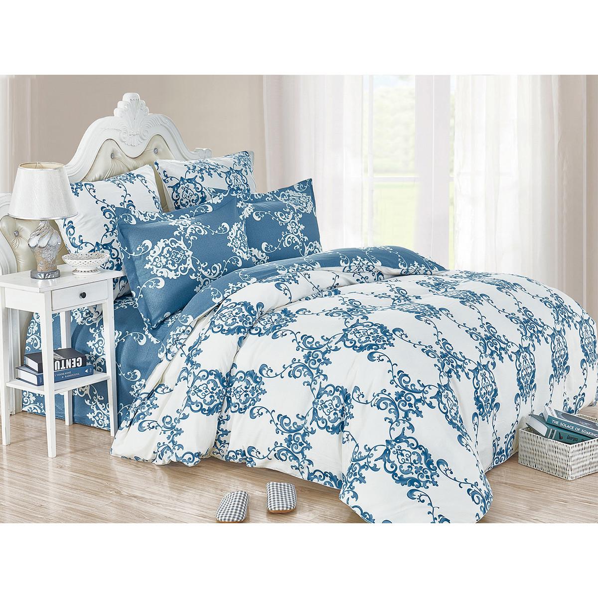 Комплект постельного белья Cleo Satin de Luxe Decor двуспальный сатин 50x70 см