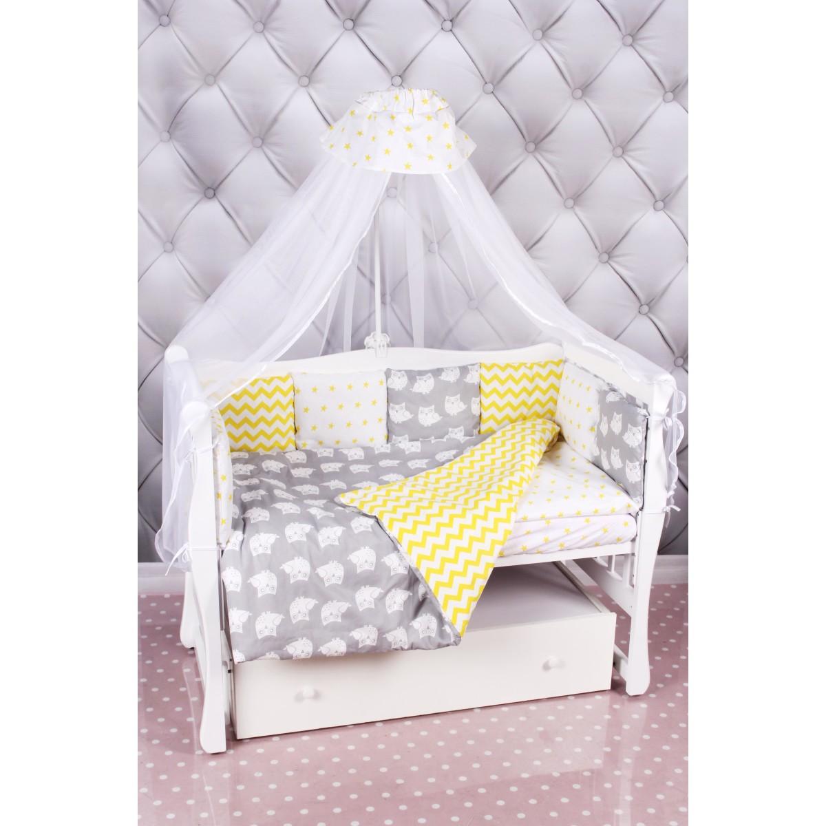 Комплект постельного белья AmaroBaby Совята в кроватку бязь 18 предметов