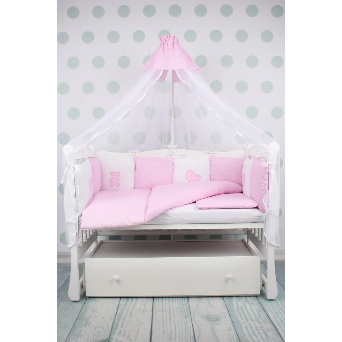 Комплект постельного белья AmaroBaby Кроха в кроватку бязь 18 предметов