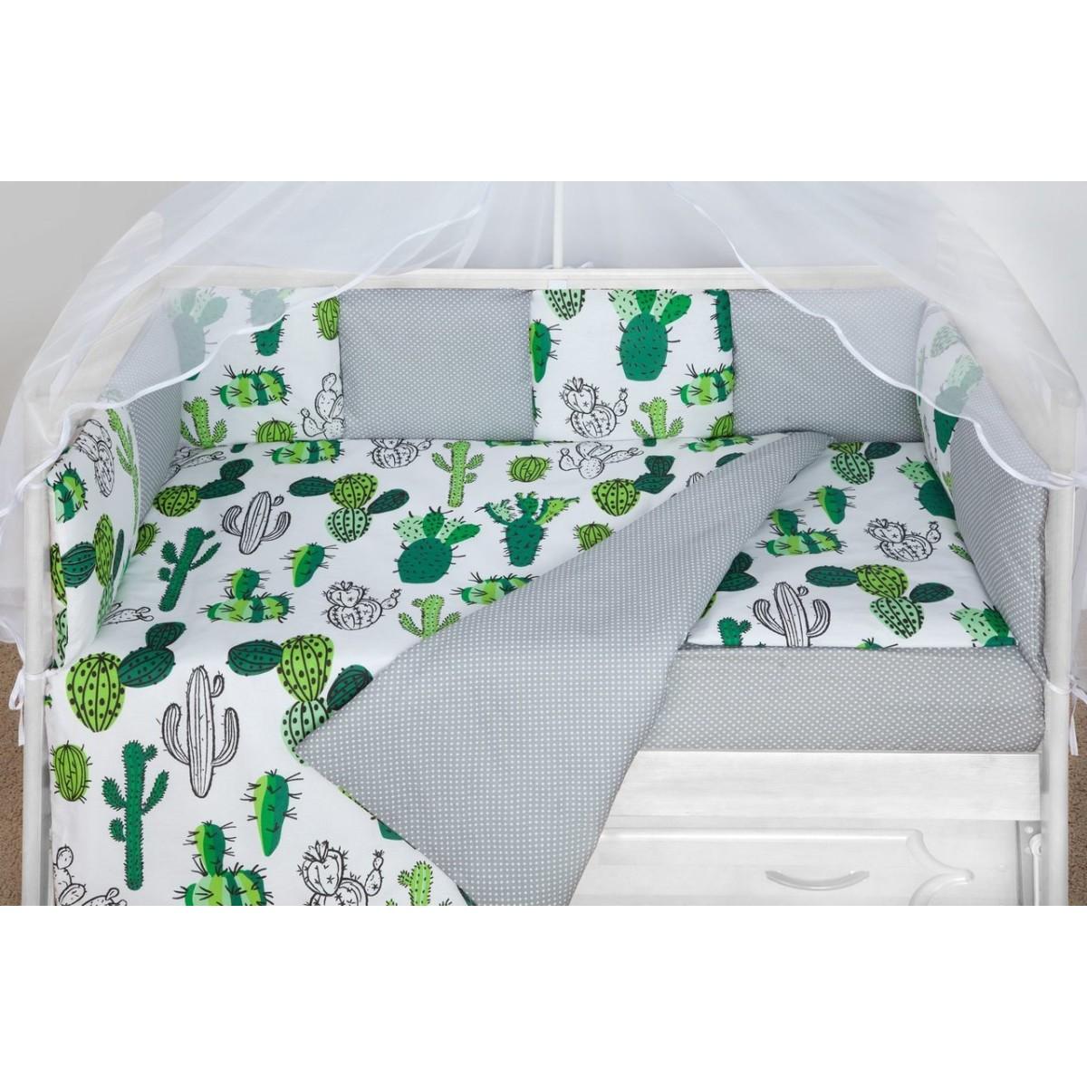 Комплект постельного белья AmaroBaby Кактусы в кроватку бязь 15 предметов